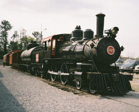 1891 locomotive at Tennessee Valley Railroad