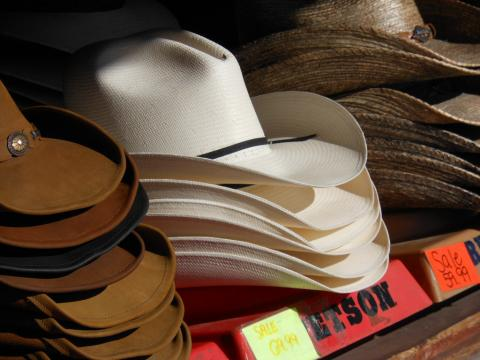 Stetson cowboy hats for sale in Fredericksburg, Texas