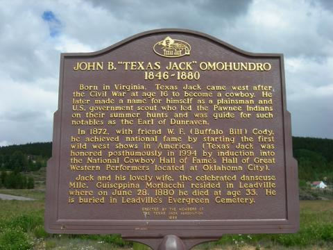 Texas Jack Historic Marker
