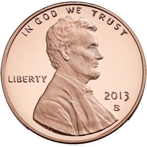 National motto on U.S. penny