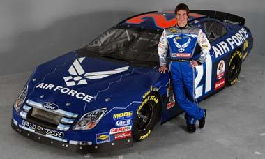 NASCAR race car and driver