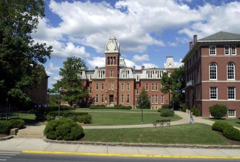 Woodburn hall at West Virginia University in Morgantown