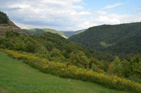 Overlooking the hills of West Virginia