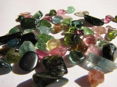 Many colors of tourmaline