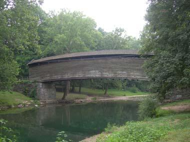 Historic covered bridge in Virginia
