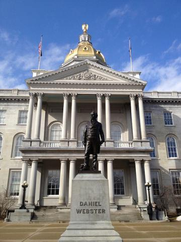New Hampshire State House is made of New Hampshire granite