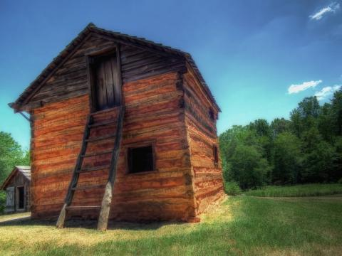 Slave cabin at Booker T. Washington National Monument