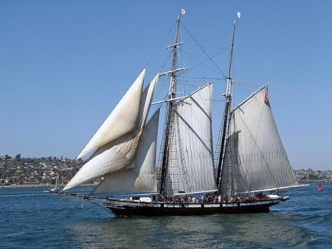 The tall ship Californian