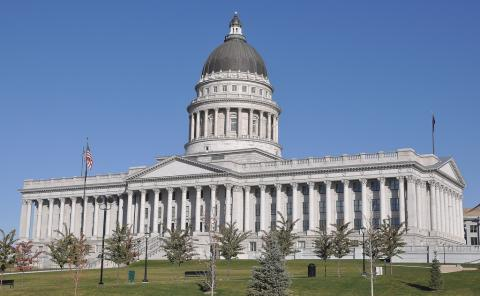 Utah Capitol building in Salt Lake City