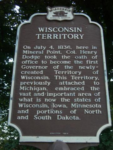 Wisconsin Territory Historic Marker