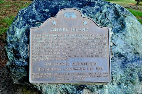 Angel Island Historic Marker