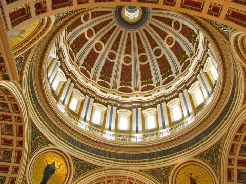 Capitol Building in Harrisburg: inside the dome