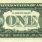 """In God We Trust"" on US one-dollar bill"