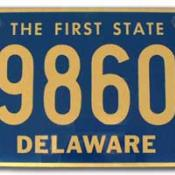 Delaware license plate with state nickname
