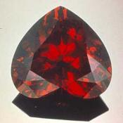 Cut and polished garnet