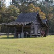 Old building at historic Landmark Park in Alabama
