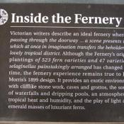 Fernery sign at Morris Arboretum