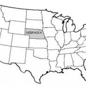 The state of Nebraska USA