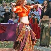 Belly dancer at the Alabama Renaissance Faire