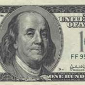 Ben Franklin on U.S. $100 bill