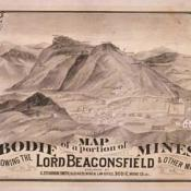 Old map of Bodie