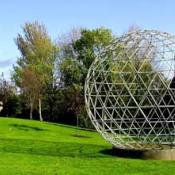 Giant 'buckyball' molecule sculpture