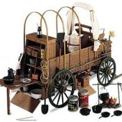 Chuck wagon with Dutch ovens