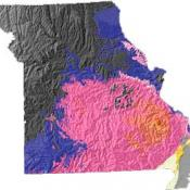 Missouri geology and topography map
