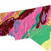 North Carolina geology and topography map