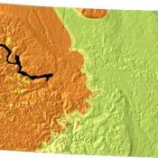 North Dakota geology and topography map