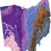 Ohio geology and topography map
