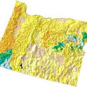 Oregon geology and topography map