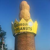 Peanut monument in Ashburn, Georgia
