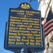 Ben Franklin Historic Marker in Philadelphia