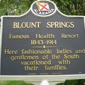 Blount Springs AL historic marker