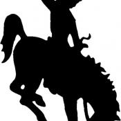 Bucking horse and Rider; registered trademark of Wyoming