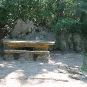 Picnic table in Chickasaw National Recreation Area