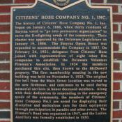 Citizens Hose Company NO. 1 Historic Marker