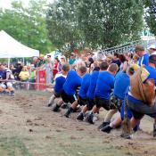 A classic tug-of-war contest