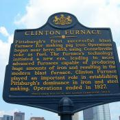 Clinton Furnace Historic Marker in Pittsburgh