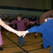 Kids square dancing