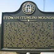 Etowah (Tumlin) Mounds Historic Marker