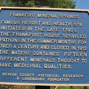 Franklin Mineral Springs in Raccoon Creek State Park PA