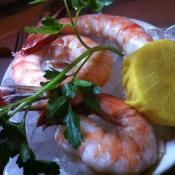 Chilled gulf shrimp in Austin, Texas