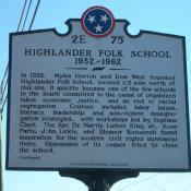 Highlander Folk School historic marker