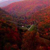 Hills of West Virginia in autumn