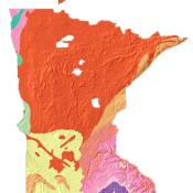 Minnesota geology and topography map