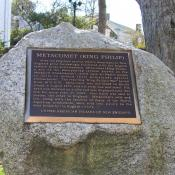 Metacomet Historic Marker, Plymouth, Massachusetts