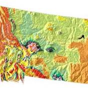 Montana geology and topography map