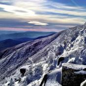 Winter on Cannon Mountain in New Hampshire